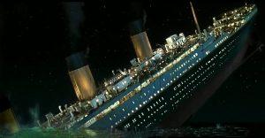 afbeelding van zinkend schip