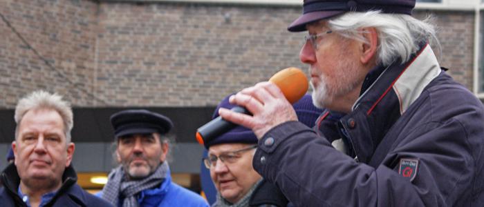 Shantykoor Kantje boord tijdens het kerstevent in Vaassen op 15 december 2018